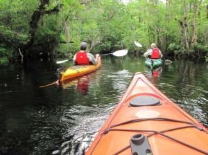 First paddle on Thomas Creek